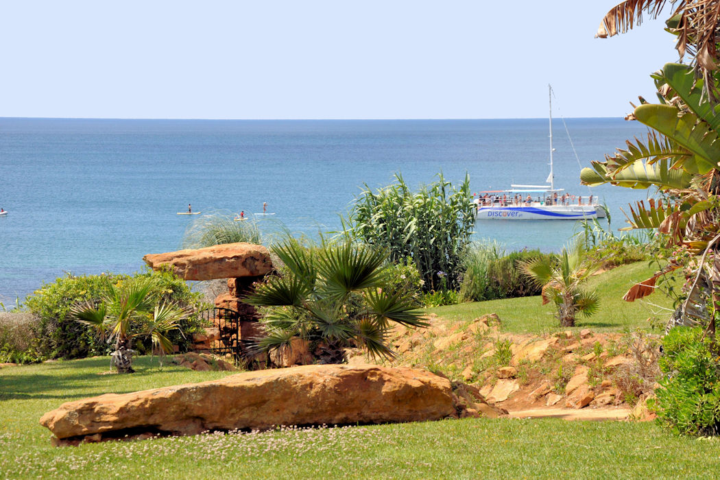 Ocean Villas has its own private gardens directly in front of the sea
